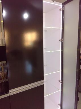 Шкаф бар с LED подсветкой для кухни