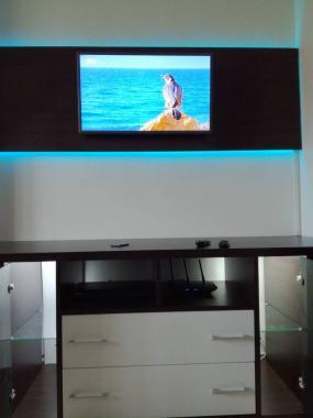 Стенка в гостиную комнату с LED подсветкой