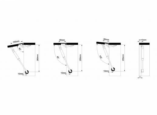 Амортизатор газовый 120N, серый Muller