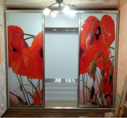"""Шкаф купе в спальню """"Red poppy"""""""