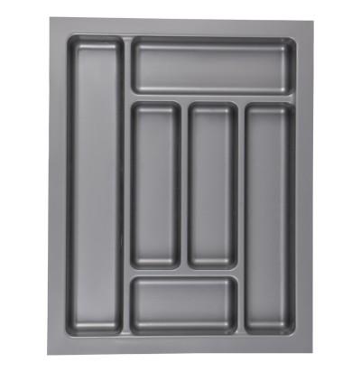 Лоток для столовых приборов (Украина) 450 серый (Ш380хГ480хВ45мм)